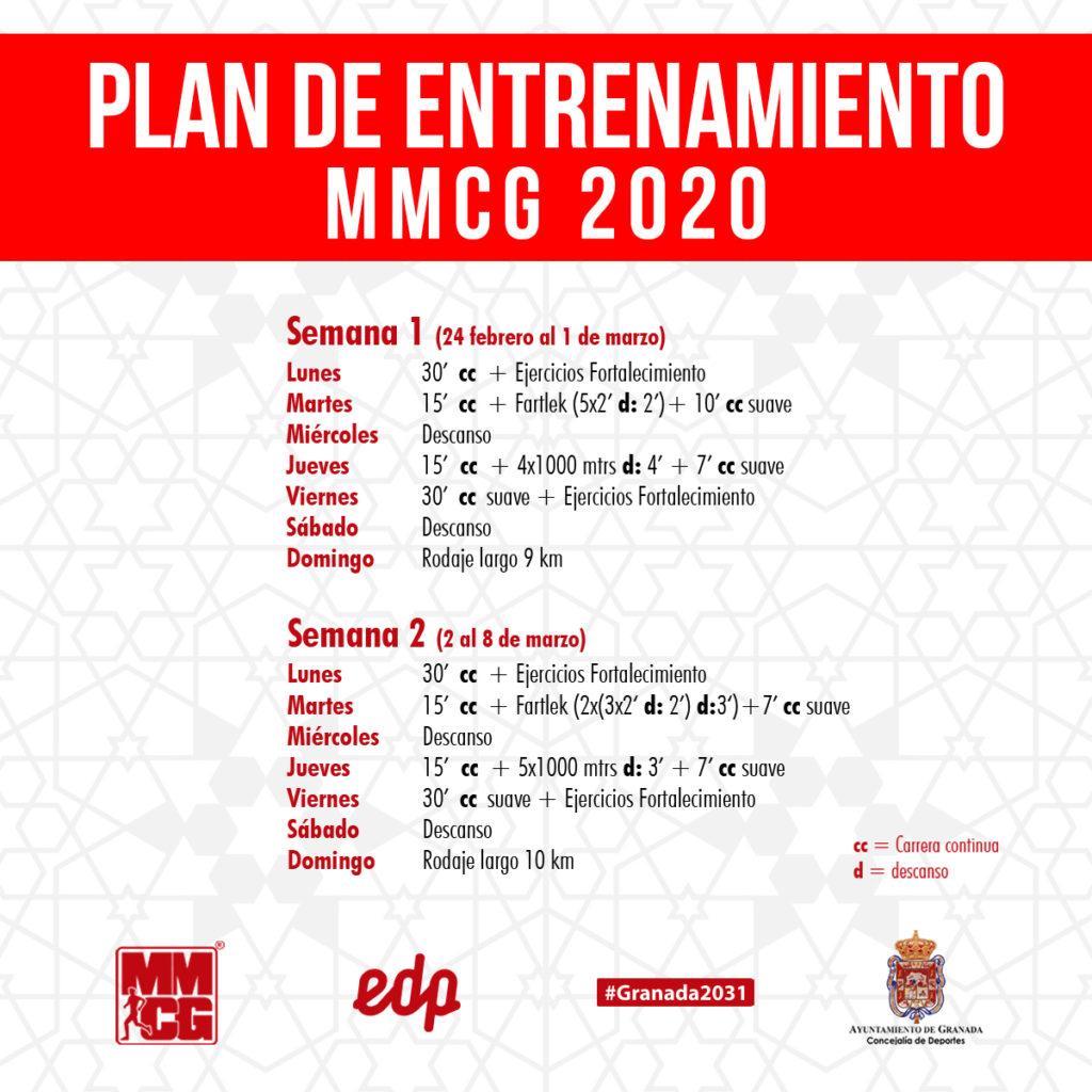 38 edp MMCG Entreno semana 1 y 2